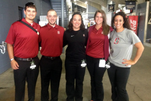 Athletic Training Students with Lee Martin and Katelin Knox